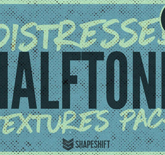 Distressed Halftone Textures
