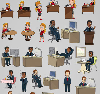 Business Vector Cartoons (54 vectors)