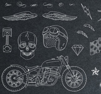 Vintage Racing Elements (23 vectors)