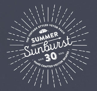 Summer Sunbursts (30 vectors)
