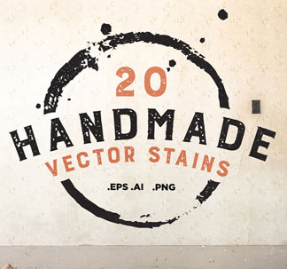 Handmade Vector Stains (20 vectors)