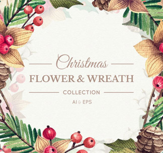 Christmas Flower and Wreath Collection