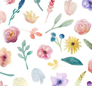 Go Floral! Watercolour Clip Art