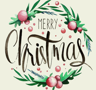 6 Christmas Lettering Messages