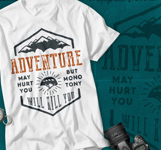 Adventure Logos and Tee Designs