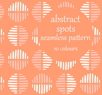 Abstract Spots Seamless Patterns