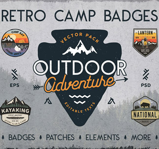 Camping & Outdoor Badge Designs
