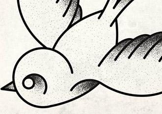 Tattoo Inspired Vector Illustration in Adobe Illustrator