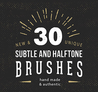 30 Subtle Halftone Brushes