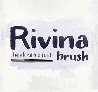 Rivina Brush Font (+30 Textures)