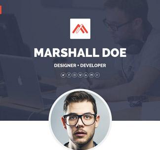 Resume Website PSD Template