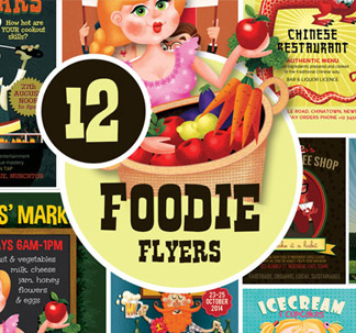 12 Foodie Flyer Templates