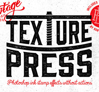 TexturePress Ink Stamp Effects