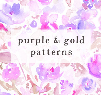 16 Floral Watercolor Patterns