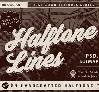 24 Halftone Lines Textures