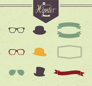 The Hipster Pack (43 vectors)