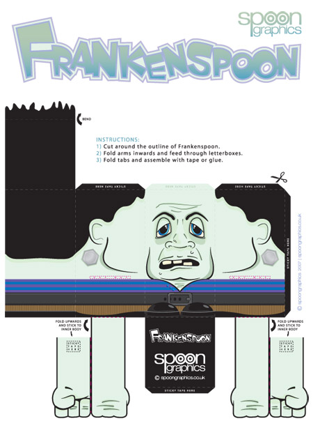 Frankenspoon Flat Pack Toy