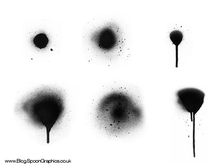 Free Hi-Res Spraypaint Photoshop Brushes