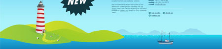 Illustrated Vector Landscape Web Design Trend
