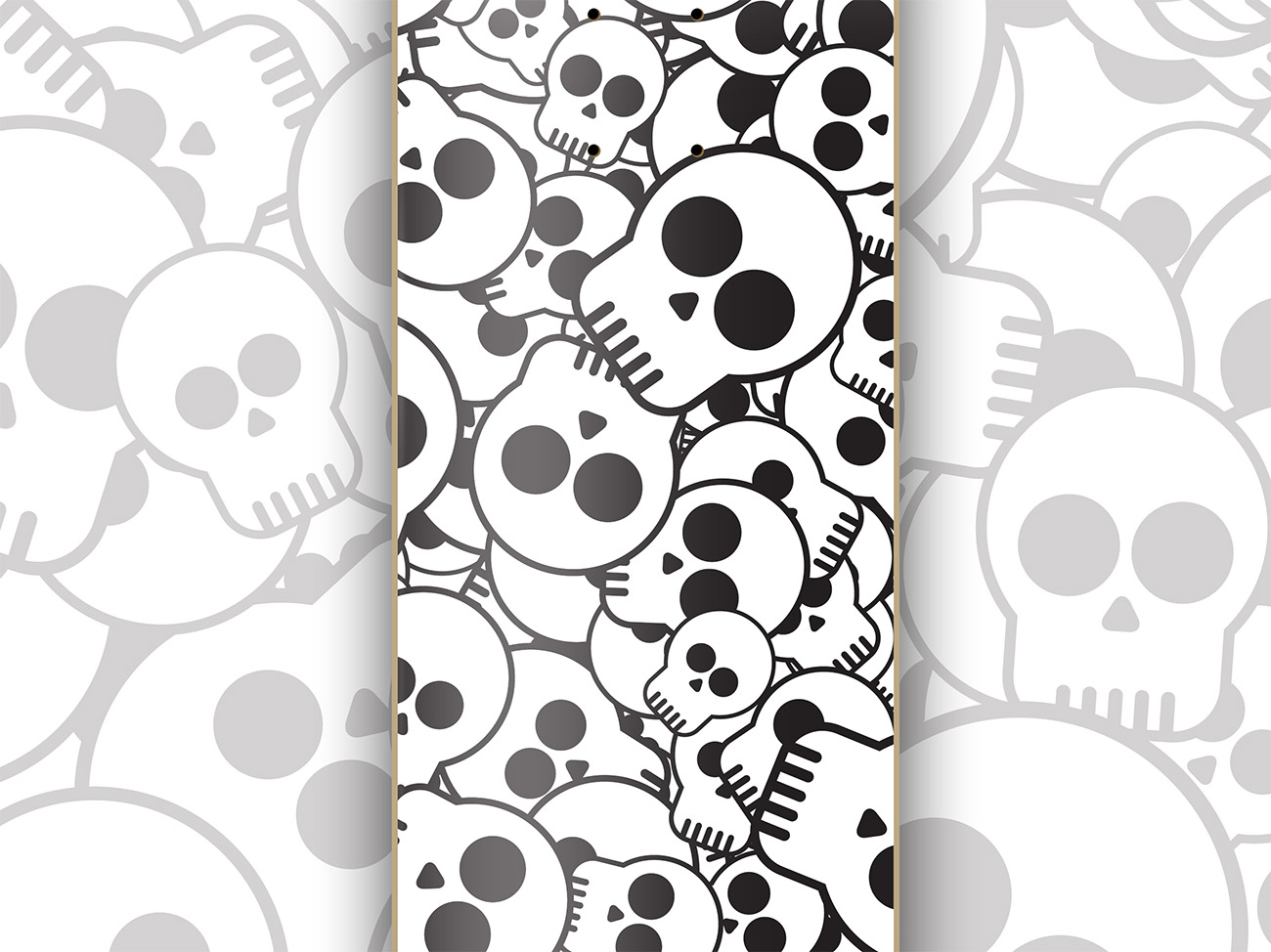 How to design a skate deck with a cool skull pattern baanklon Image collections