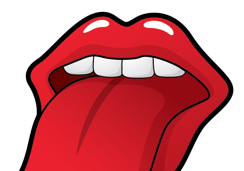 Lips logo design vector