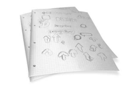 DesignBump logo sketches