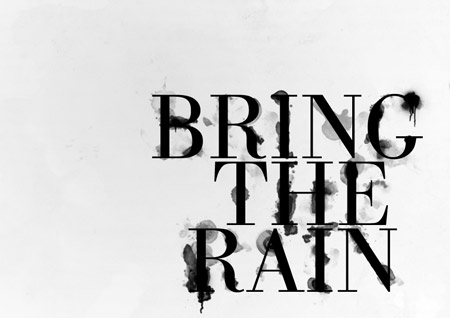 Ink typography design