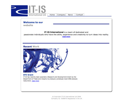 The old IT-IS International website