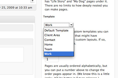 Activating the custom page template