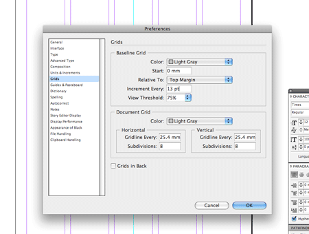 create a grid based resumecv layout in indesign - Margins For Resume