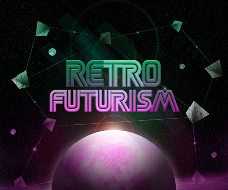 Retro futurism design example