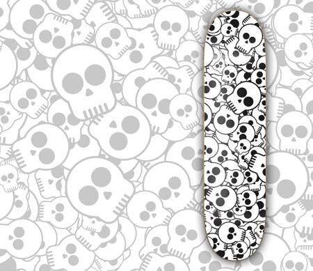 Skull skatedeck design