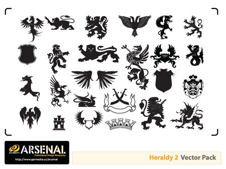 Heraldry vectors preview