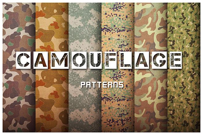 Camouflage Patterns Set