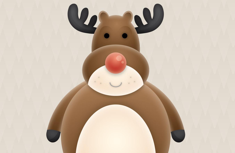 create a cute vector reindeer character in illustrator