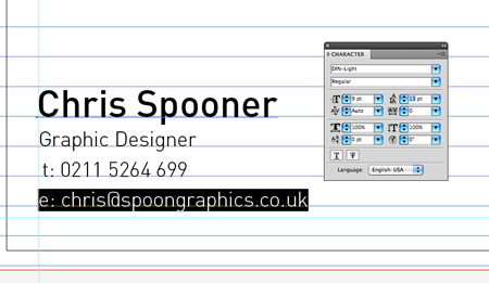 Create a fun print ready doodled business card design finish off entering your contact details and adjust the line height to match the height of the ruled lines you might want to use a variation of type sizes colourmoves