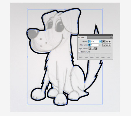 How to draw a cute vector dog character in illustrator step by step ccuart Images