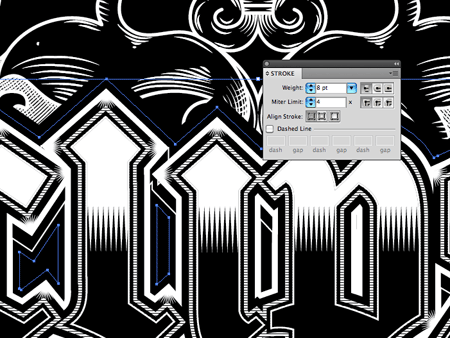 Design In Line : How to create detailed gothic linework typography