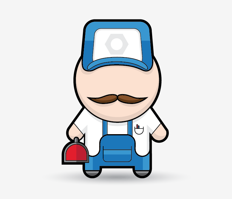 Cartoon Characters Using Shapes : Create a simple mechanic character in illustrator