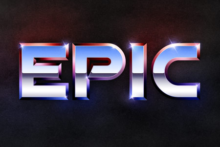 Epic metal text effect