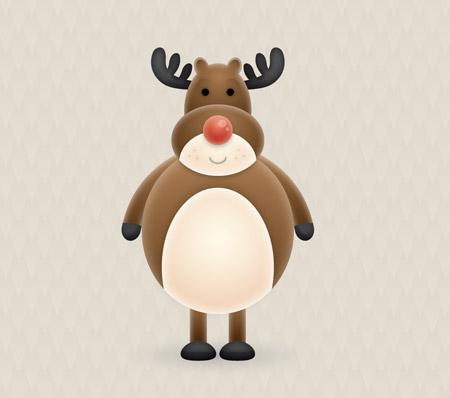 Cute vector reindeer character