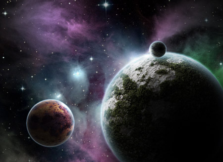 Diseñar una escena hermosa espacio cósmico en Photoshop