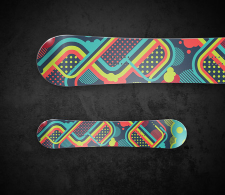 Vector snowboard design