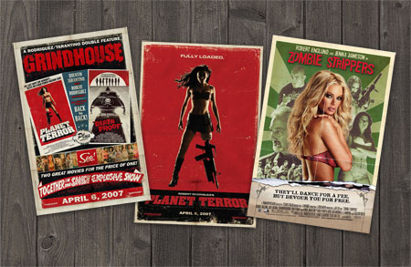 Vintage style movie posters