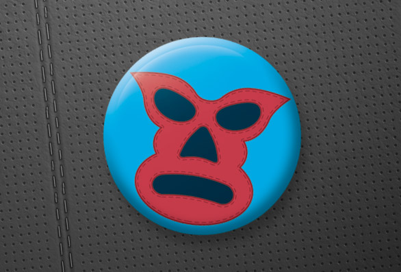 Lucha-Libre-Badge