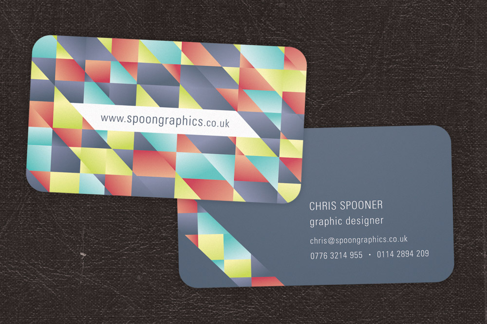 How To Design A Print Ready DieCut Business Card - Rounded corner business card template