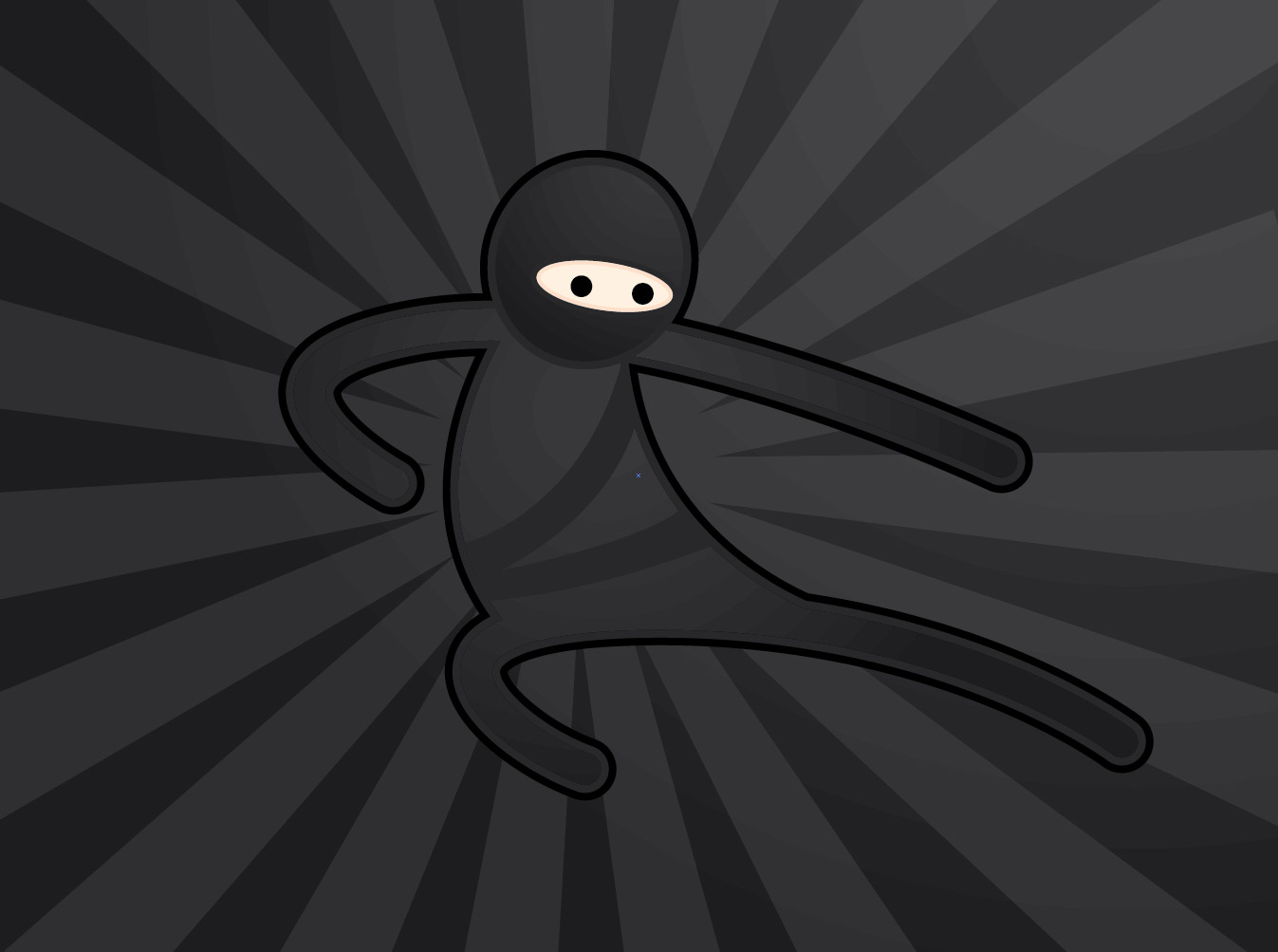 Simple Character Design Illustrator : Create a simple vector ninja character in illustrator