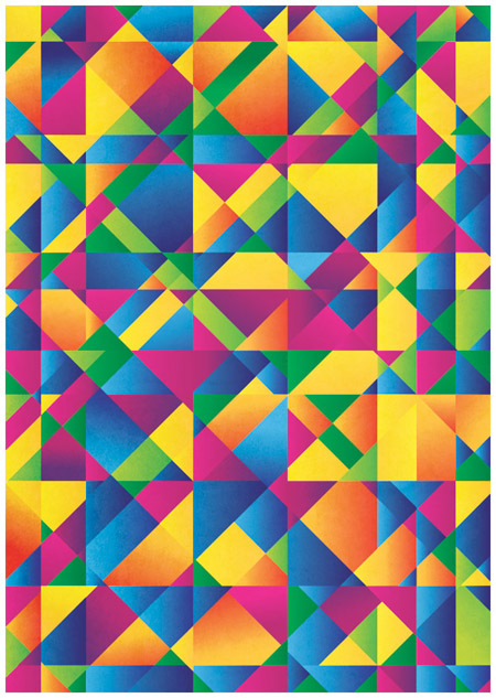 Colourful abstract poster