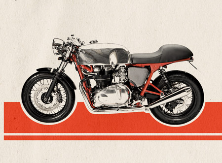 How To Create A Retro Cafe Racer Motorcycle Ad Design