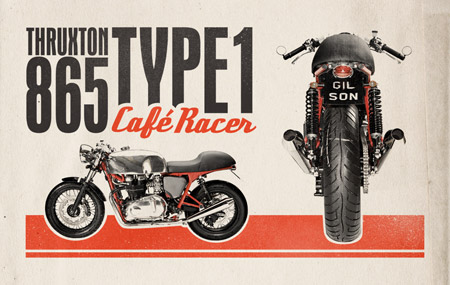 Retro Cafe Racer ad design